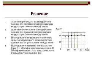 Решение 1. сила электрического взаимодействия данных тел обратно пропорционал