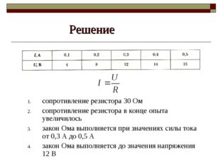 Решение сопротивление резистора 30 Ом сопротивление резистора в конце опыта у