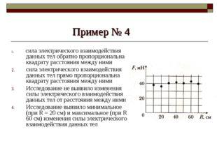 Пример № 4 1. сила электрического взаимодействия данных тел обратно пропорцио