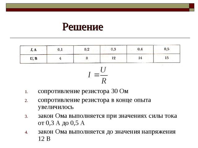 Решение сопротивление резистора 30 Ом сопротивление резистора в конце опыта у...