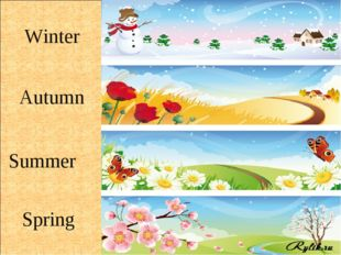 Winter Autumn Summer Spring