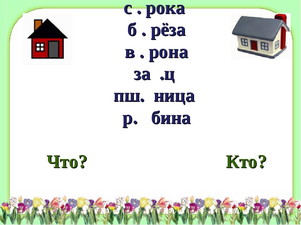 фоны\shablon3.jpg с . рока б . рёза в . рона за .ц пш. ница р. бина Что? Кто?