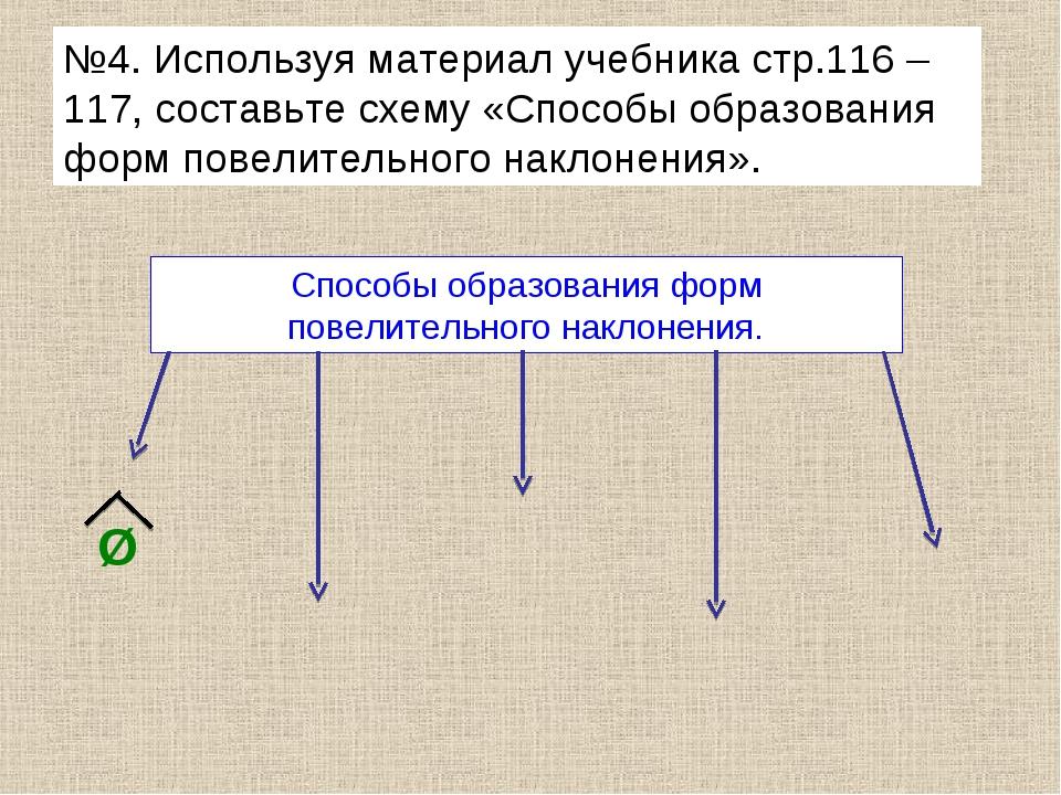 №4. Используя материал учебника стр.116 – 117, составьте схему «Способы образ...