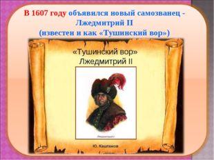 В 1607 году объявился новый самозванец - Лжедмитрий II (известен и как «Туши