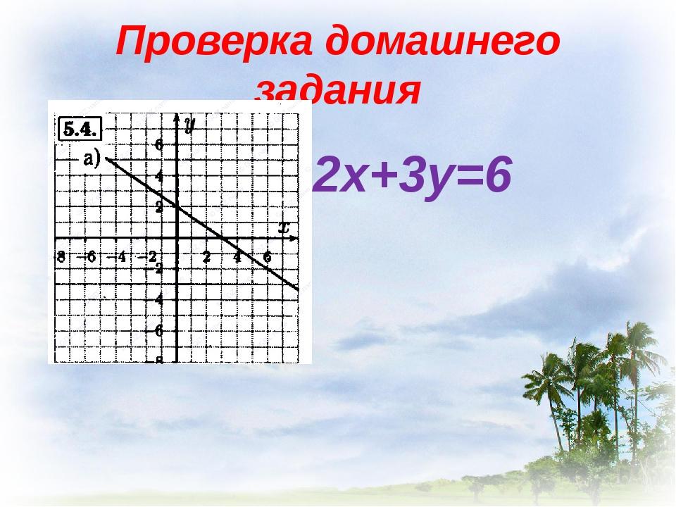 Проверка домашнего задания 2х+3у=6