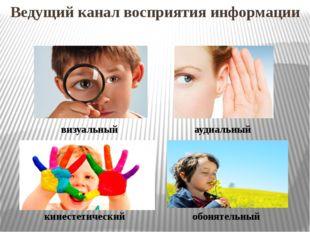 Ведущий канал восприятия информации визуальный аудиальный кинестетический обо