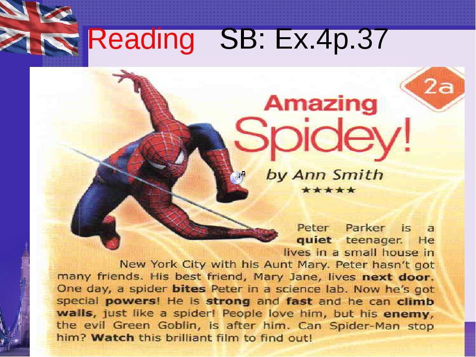 Reading SB: Ex.4p.37