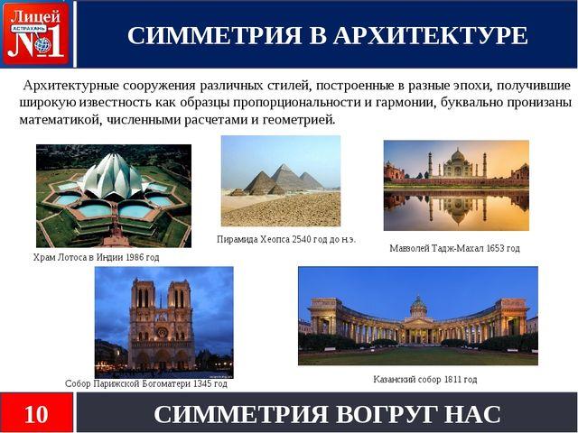 Архитектурные сооружения различных стилей, построенные в разные эпохи, получ...