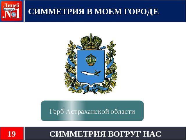 СИММЕТРИЯ В МОЕМ ГОРОДЕ СИММЕТРИЯ ВОГРУГ НАС 19 Герб Астраханской области
