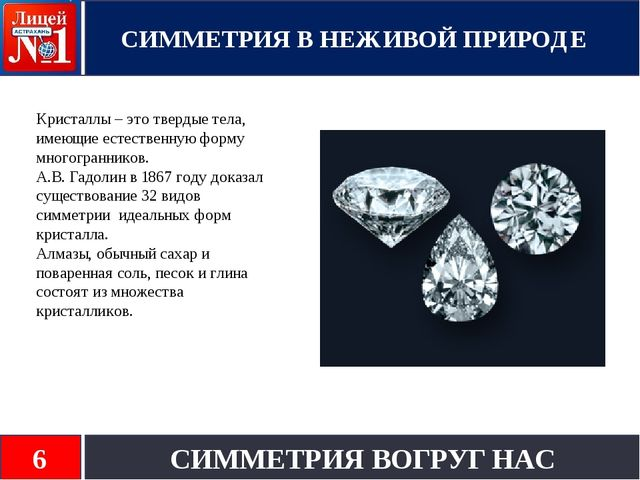 Кристаллы – это твердые тела, имеющие естественную форму многогранников. А.В....