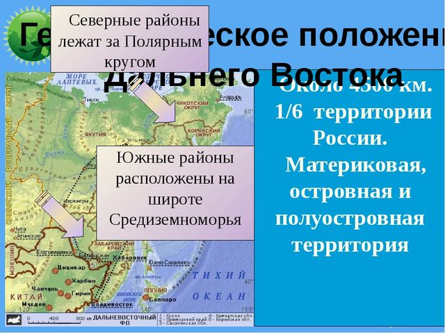 Около 4500 км. 1/6 территории России. Материковая, островная и полуостровная...