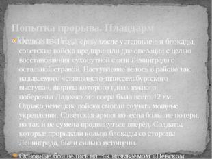 Осенью 1941 года, сразу после установления блокады, советские войска предприн