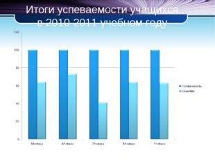 Итоги успеваемости учащихся в 2010-2011 учебном году