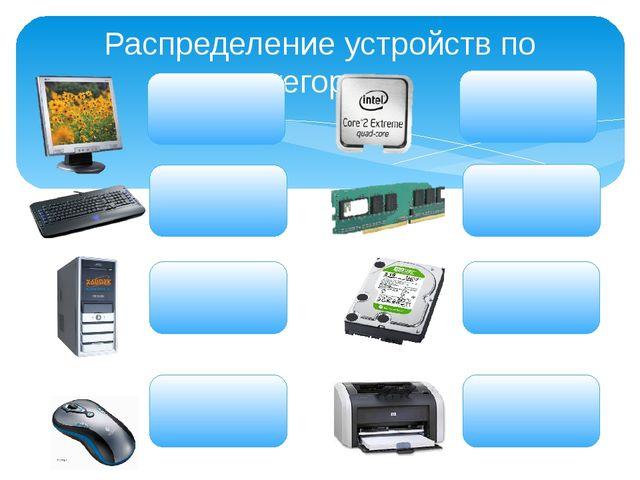 Распределение устройств по категориям