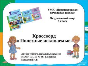 УМК «Перспективная начальная школа» Окружающий мир. 3 класс Кроссворд « Поле