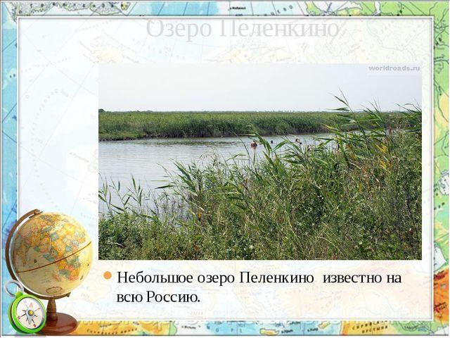 Озеро Пеленкино Небольшое озеро Пеленкино известно на всю Россию.