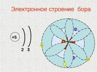 Электронное строение бора  +5 2 3
