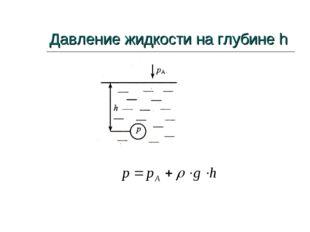 Давление жидкости на глубине h
