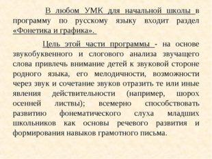 В любом УМК для начальной школы в программу по русскому языку входит раздел
