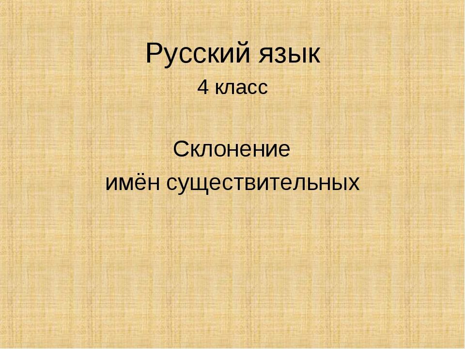 Русский язык 4 класс Склонение имён существительных
