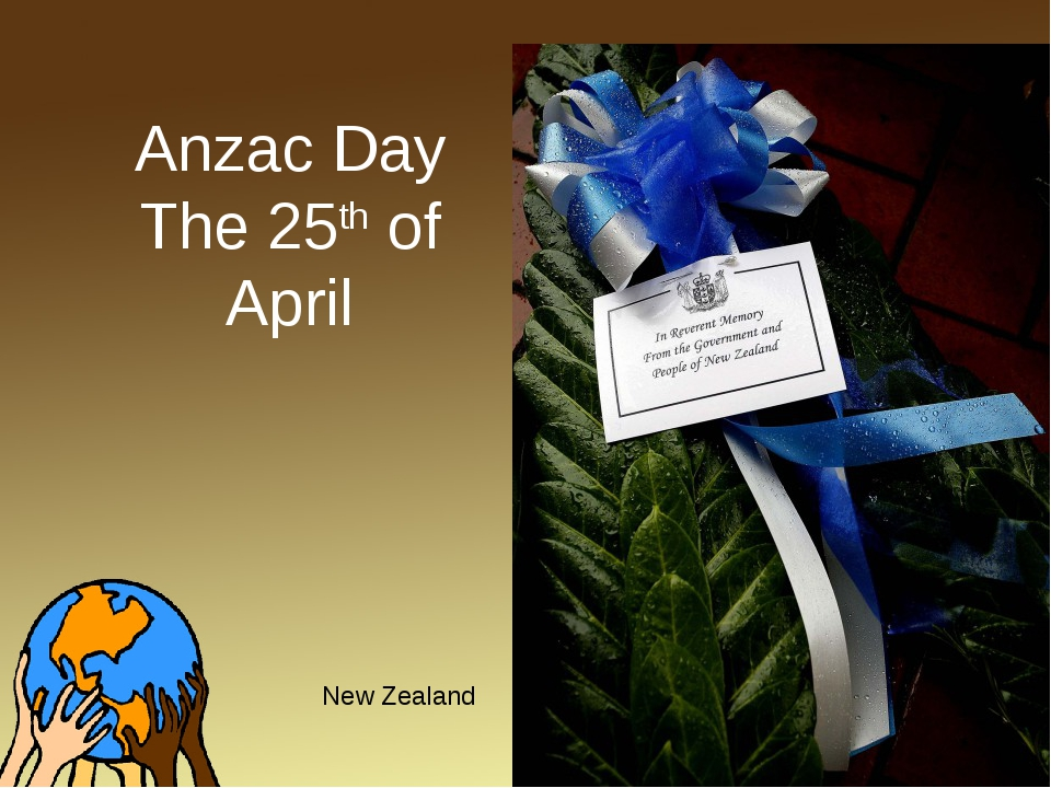 Anzac Day The 25th of April New Zealand