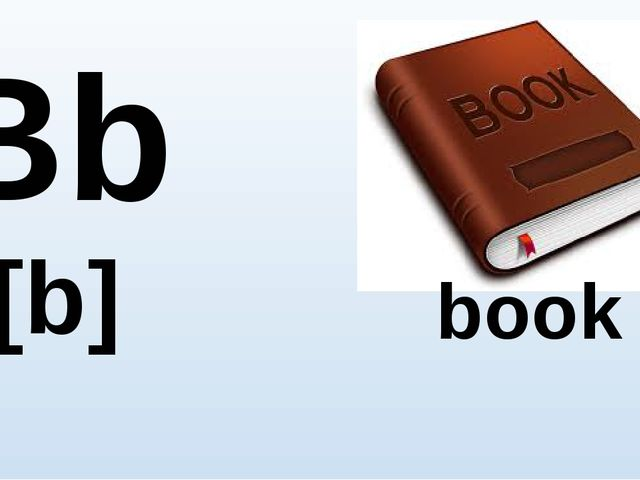 Bb [b] book