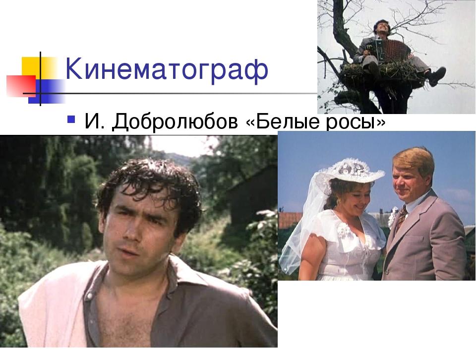 Кинематограф И. Добролюбов «Белые росы»