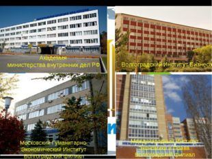 Академия министерства внутренних дел РФ Волгоградский Институт Бизнеса Москов