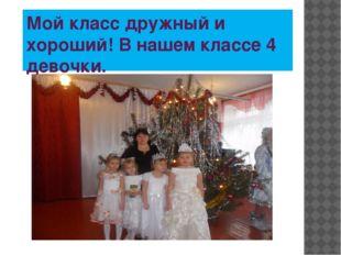 Мой класс дружный и хороший! В нашем классе 4 девочки.