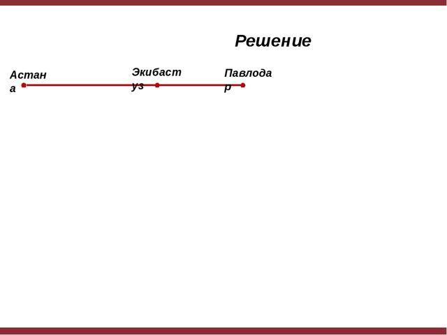 Решение Астана Экибастуз Павлодар