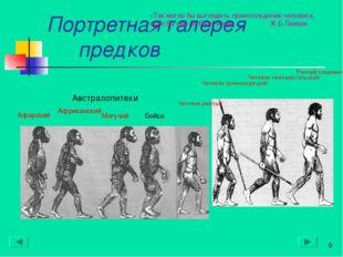 Портретная галерея предков * Австралопитеки* Афарский Африканский Могучий Бой
