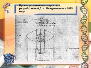 Проект управляемого аэростата, разработанный Д. И. Менделеевым в 1875 году.
