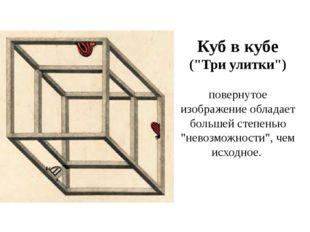 """Куб в кубе (""""Три улитки"""") повернутое изображение обладает большей степенью """"н"""