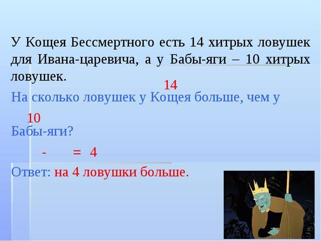У Кощея Бессмертного есть 14 хитрых ловушек для Ивана-царевича, а у Бабы-яги...