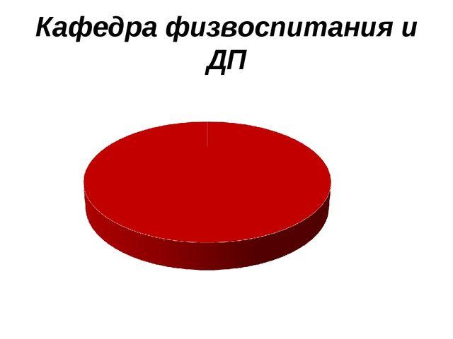 Кафедра физвоспитания и ДП