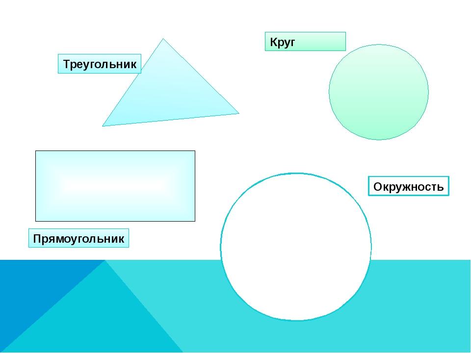 Треугольник Прямоугольник Круг Окружность