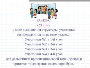 КОНЭРС «УГЛЫ» в ходе выполнения структуры участники распределяются по разным