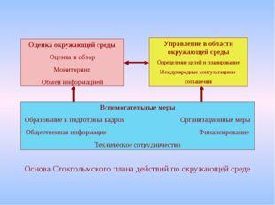 Оценка окружающей среды Оценка и обзор Мониторинг Обмен информацией Управлени