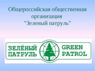 """Общероссийская общественная организация """"Зеленый патруль"""""""