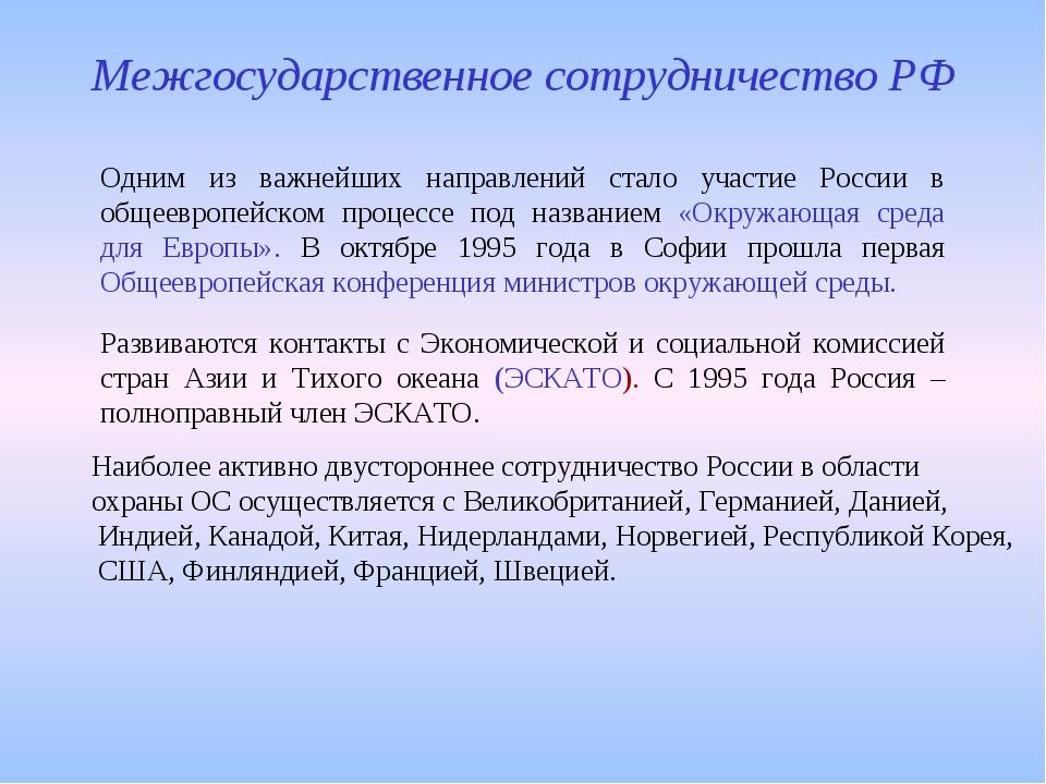 Одним из важнейших направлений стало участие России в общеевропейском процесс...
