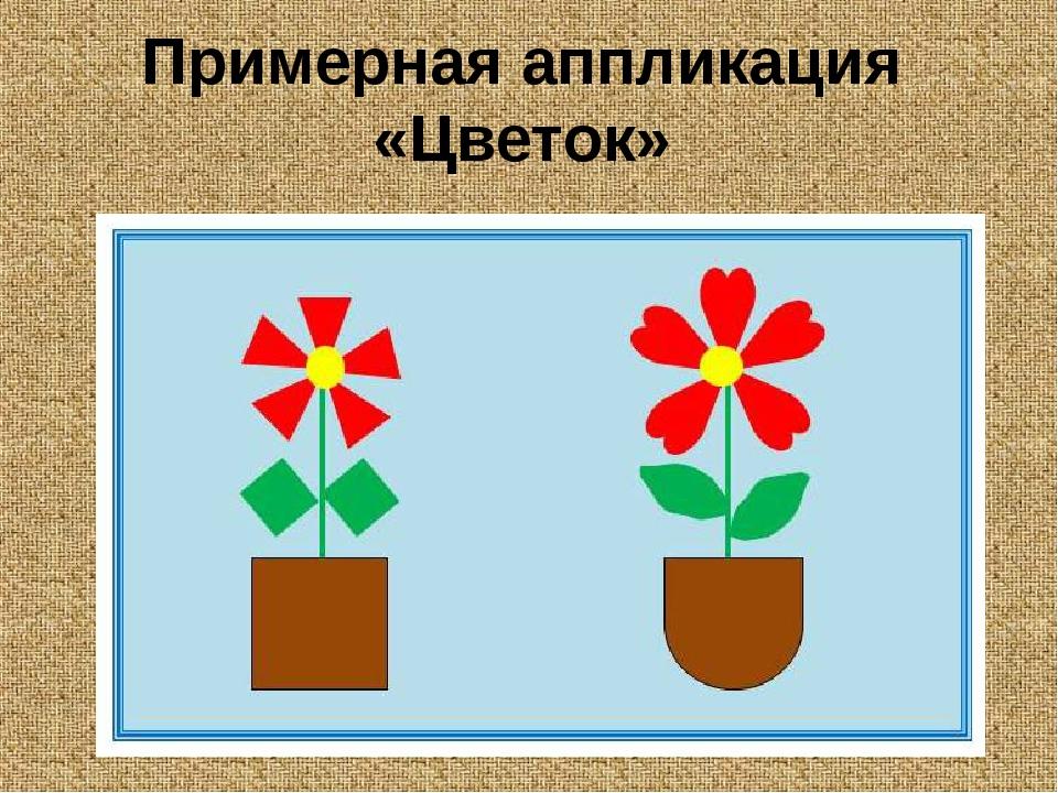 Примерная аппликация «Цветок»