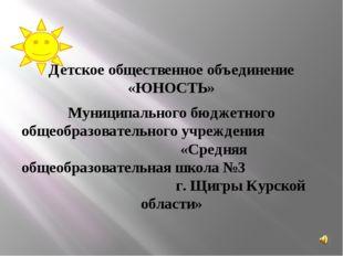 Детское общественное объединение «ЮНОСТЬ» Муниципального бюджетного общеобра
