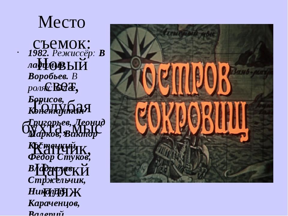Место съемок: Новый свет, Голубая бухта, мыс Капчик, Царскй пляж 1982.Режисс...