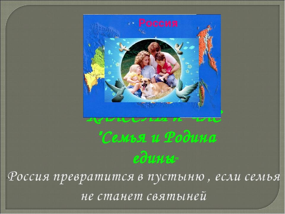 """КЛАССНЫЙ ЧАС """"Семья и Родина едины""""  Россия"""