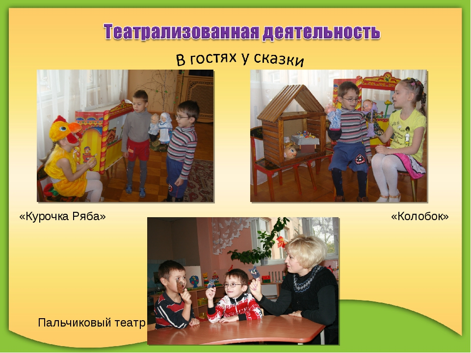 «Курочка Ряба» «Колобок» Пальчиковый театр