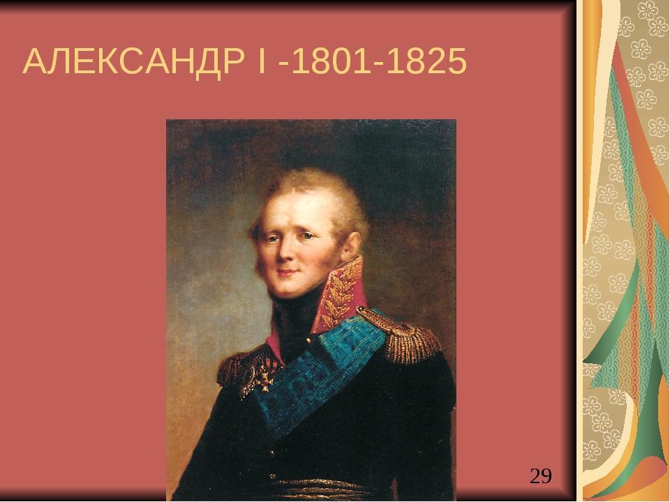 АЛЕКСАНДР I -1801-1825 Акользин 2004г.
