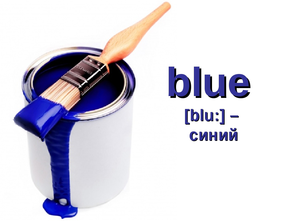 blue [blu:] – синий