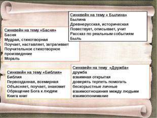 Синквейн на тему «Басня» Басня Мудрая, стихотворная Поучает, наставляет, затр