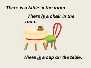 There is a table in the room. There is a chair in the room. There is a cup on