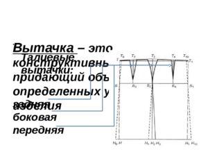 Вытачка – это конструктивный элемент, придающий объемность на определенных у
